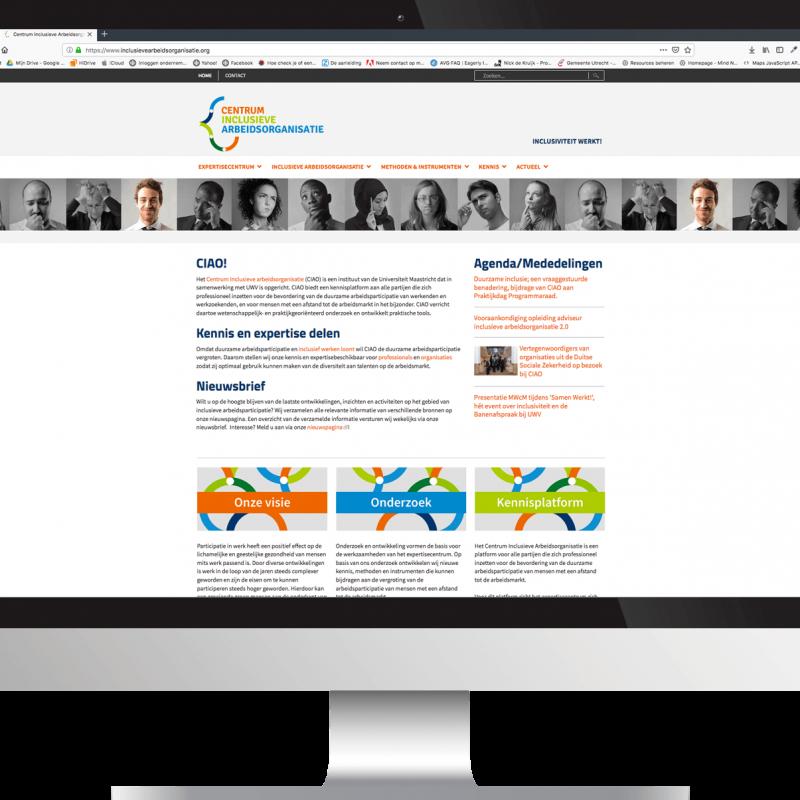 WEBSITE MAKE-OVER • CENTRUM INCLUSIEVE ARBEIDSORGANISATIE